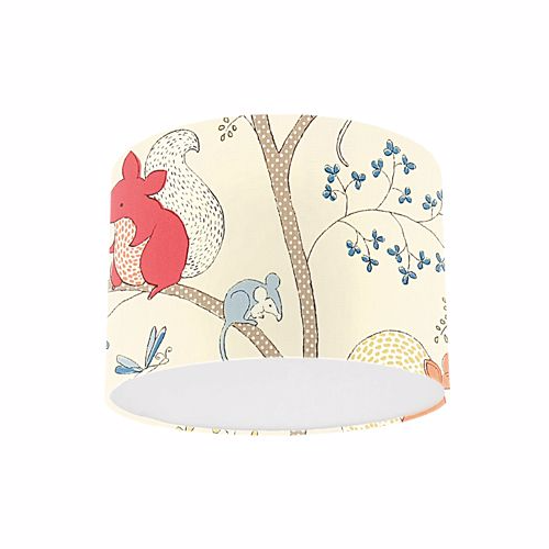 Little Sanderson Abracazoo Going Batty Red Ginger Fabric